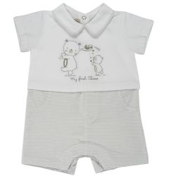 Salopeta bebe scurta Chicco, crem, 50768