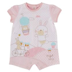 Salopeta bebelusi Chicco, scurta, inchidere spate, fetite, roz, 50751