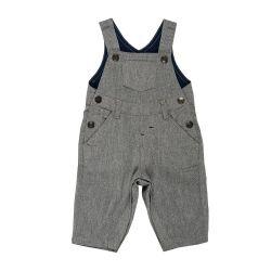 Salopeta pantaloni lungi cu bretele, copii Chicco, baieti, gri, 95554