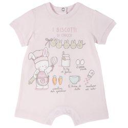 Salopeta bebe Chicco, pantalon scurt, roz, 68