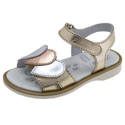 Sandale copii Chicco, piele naturala,auriu platinat, 24