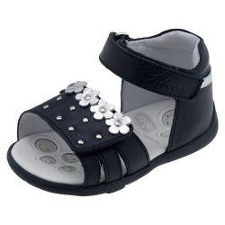 Sandale copii Chicco, Grova, piele naturala, bleumarin, 59508
