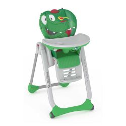 Scaun de masa Chicco Polly 2 Start, Crocodile, 0 luni+