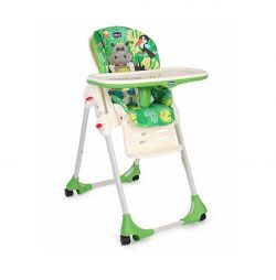 Scaun de masa Chicco Polly Easy, 4roti, HappyJungle, 6+luni