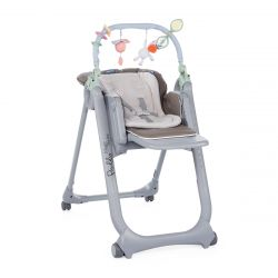 Scaun de masa Chicco Polly Magic Relax, Dove Grey, 0luni+