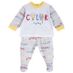 Set bluza si pantalonas copii Chicco, multicolor, 62