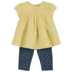 Set bluza si pantalonasi copii Chicco, bleumarin cu model, 98