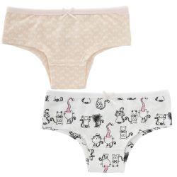 Set chiloti copii Chicco, 2 bucati, alb cu roz, 11326