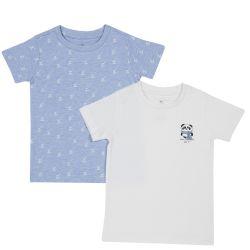 Set doua tricouri copii Chicco, alb, 128