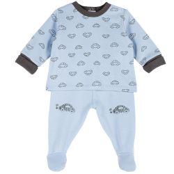 Set pantalon si bluza copii Chicco, albastru deschis, 77841