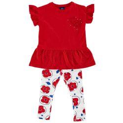 Set rochie si colant,copii Chicco, fete, rosu, 76213