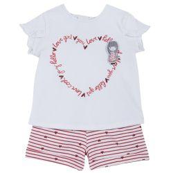 Set tricou si pantaloni scurti copii Chicco, rosu, 98