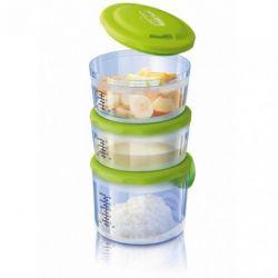 Sistem 3 recipiente hrana Chicco Easy Meal, 6luni+