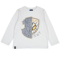 Tricou copii Chicco, alb, 128