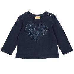 Tricou copii Chicco, albastru inchis, 104