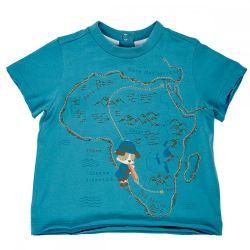 Tricou copii Chicco, albastru, maneca scurta, 06385