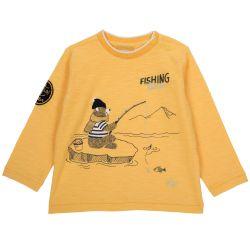Tricou copii Chicco, galben auriu, 92