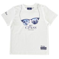 Tricou maneca scurta Chicco, baieti, alb, 06358