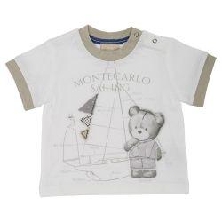 Tricou maneca scurta copii Chicco, baieti, alb, 06344