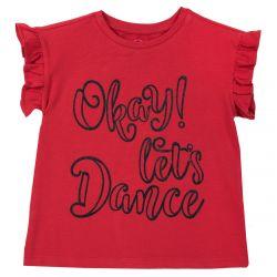 Tricou copii Chicco Dance, rosu, maneca scurta, 128