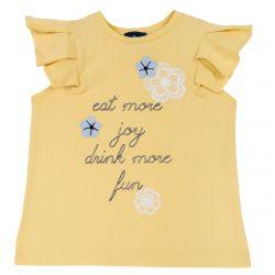 Tricou copii Chicco, galben cu mesaj, 92
