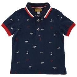 Tricou polo copii Chicco, bleumarin, 33416