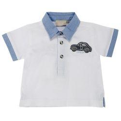 Tricou polo copii Chicco, maneca scurta, alb, 33412