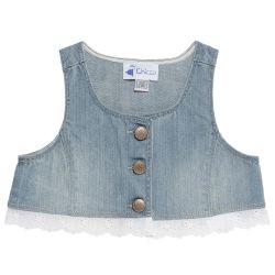 Vesta fetite Chicco, albastru cu dantela, 96391