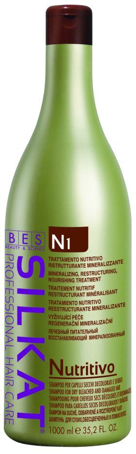 SILKAT NUTRITIVO N1 Sampon Active pentru par uscat,  decolorat si deteriorat 1000 ml