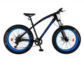 Bicicleta Fat Bike VELORS, V2400A, cadru otel, culoare negru / albastru