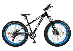 Bicicleta Fat Bike VELORS, V2677A, cadru otel, culoare negru / alb