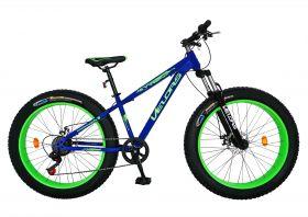 Bicicleta Fat Bike VELORS, V2677A, cadru otel, culoare albastru / verde