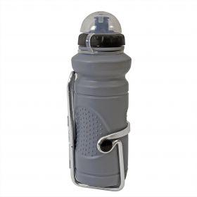 Bidonas apa 500 ml cu suport aluminiu, culoare gri 016A+350C