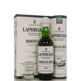 LAPHROAIG QUARTER CASK & GLASS GIFT PACK – 70cl