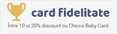 Promotii speciale, valabile doar in magazinele de reprezentanta Chicco sau pe www.chicco.ro si acces la campanii sau evenimente speciale organizate de Chicco.