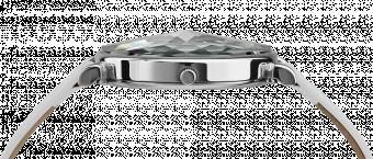 Ceas dama Facet cu carcasa din otel inoxidabil 36mm, curea din satin, mecanism ETA F06, rezistent la apa  3 ATM