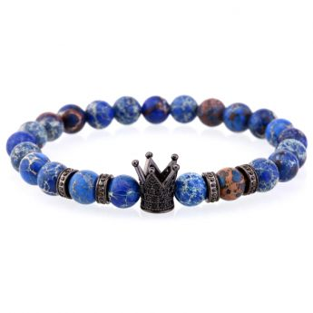 Agate Blue Natural Stone Crown