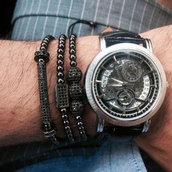 All Black Set 3 Brooks Zircon Bracelets
