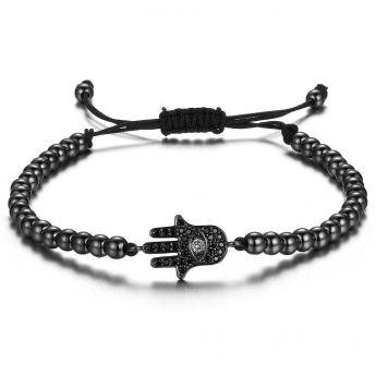 Black Fatima Hand Women Zircon Bracelet