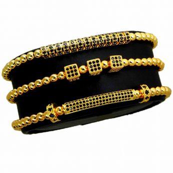 Luxury Set 3 Gold Brooks Bracelets