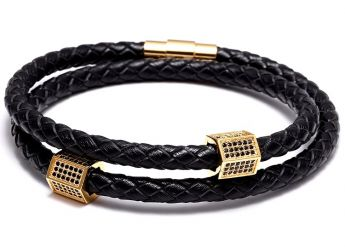 Brooks Men Double Strap Bracelet