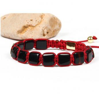 Brooks Red Macrame Bracelet