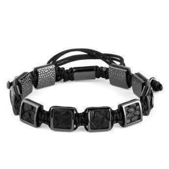 Brooks All Black Squares Bracelets