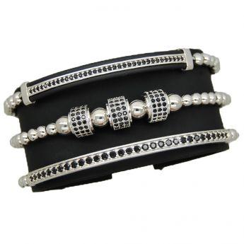 Luxury Set 3 Brooks Silver Bracelets
