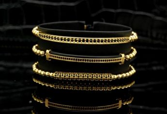 Luxury Set 3 Gold 14K Brooks Bracelets