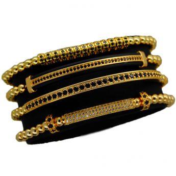 Luxury Set 4 Gold 14K Brooks Bracelets