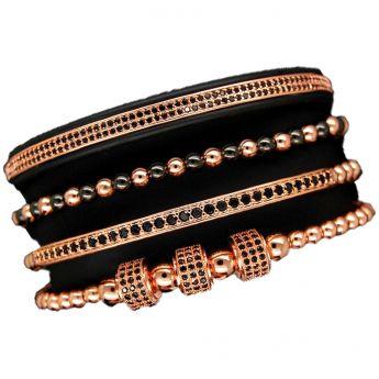 Luxury Set 4 Rose Gold 14K Brooks Bracelets