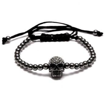 All Black Brooks Skull