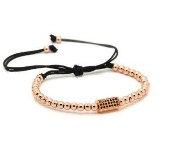 Rose Gold Cubic Zirconia Men Bracelet