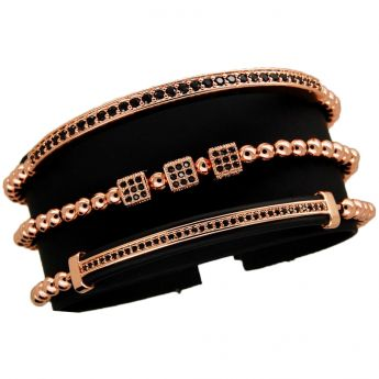 Luxury Set 3 Rose Gold 14K Brooks Bracelets